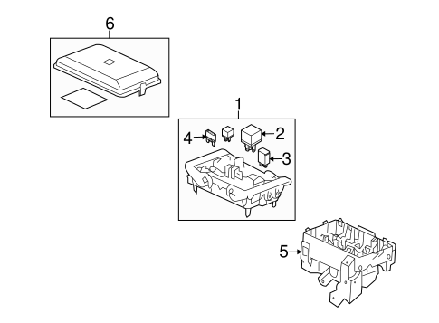 oem 2008 hummer h2 fuse relay parts. Black Bedroom Furniture Sets. Home Design Ideas