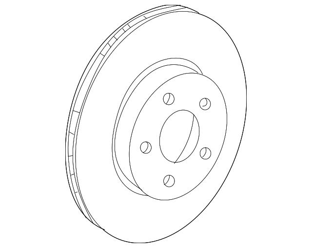 Genuine Mercedes Benz Rotor 204 421 36 12