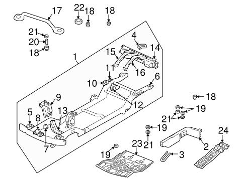 oem 2001 chevrolet tracker frame components parts. Black Bedroom Furniture Sets. Home Design Ideas