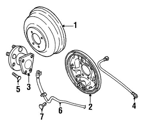 2000 saturn ls1 engine diagram oem 2000 saturn sl2 rear brakes parts | gmpartsonline.net #12