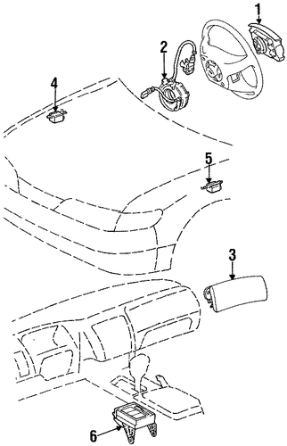 ELECTRICAL/AIR BAG COMPONENTS for 1997 Toyota Corolla #1
