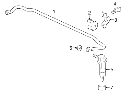 Stabilizer Bar Components For 2011 Gmc Terrain