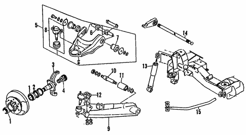 Suspension Components for 1995 Isuzu Trooper #1