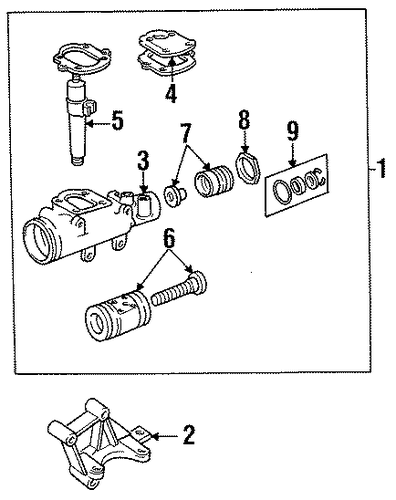 steering gear for 1991 jeep wrangler parts