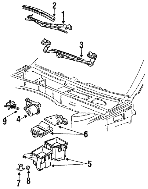 Wiper Washer Components For 1993 Ford Taurus