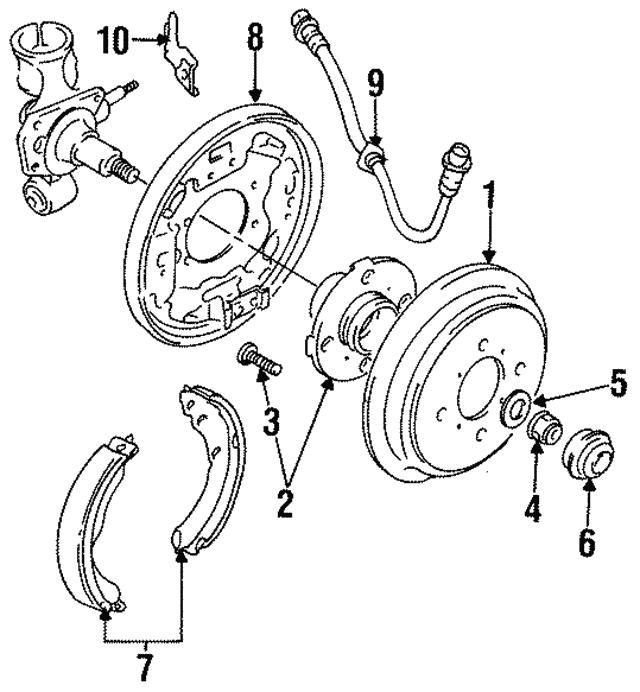1998 2001 Chevrolet Metro Brake Drum 96066531