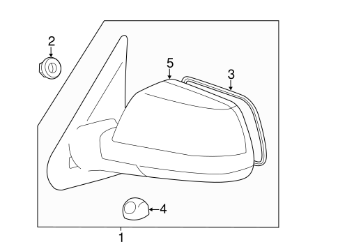 BODY/OUTSIDE MIRRORS for 2009 Toyota Tundra #1