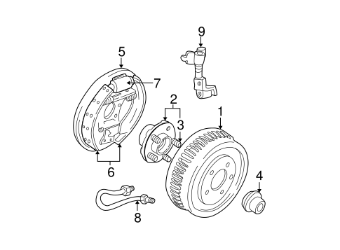 Brakes/Brake Components for 2004 Ford Taurus #1