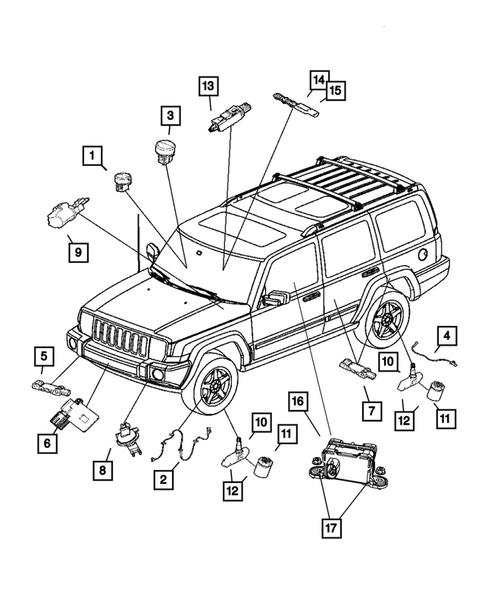 Sensors For 2006 Jeep Commander Athens Dcjr