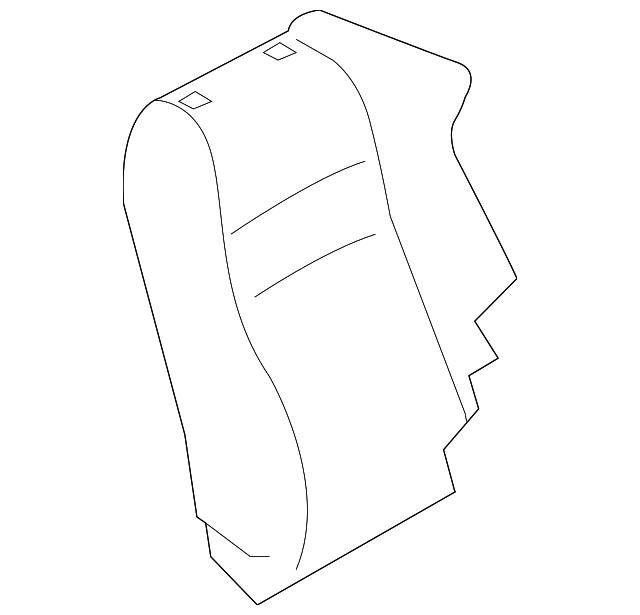 TOYOTA Genuine SU003-04393 Seat Back Pad