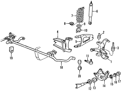 Front Suspension For 1995 Ford F 150 Blue Springs Ford Parts