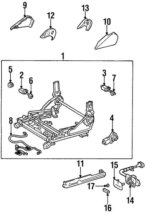 Toyota 72158-07010-B0 Seat Track Bracket Cover