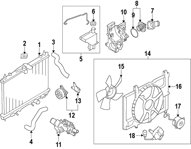 Thermostat Housing - Nissan (11061-EL00A)