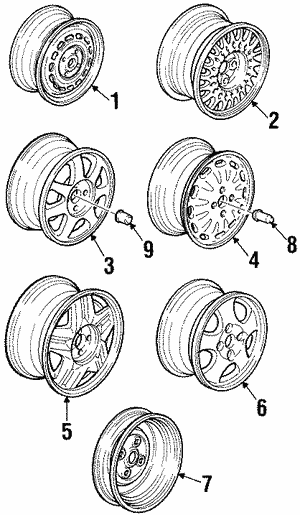 Nut, Wheel (Key Fasteners)