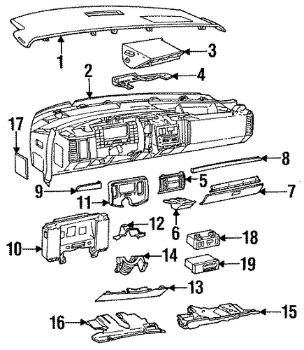 oem 1994 cadillac fleetwood controls parts