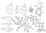 Seat Back Cover - Nissan (87670-6MD0B)
