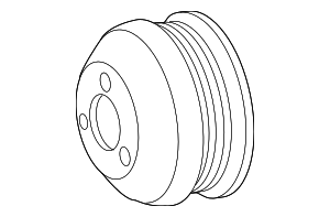 Pulley - Mercedes-Benz (000-466-20-15)