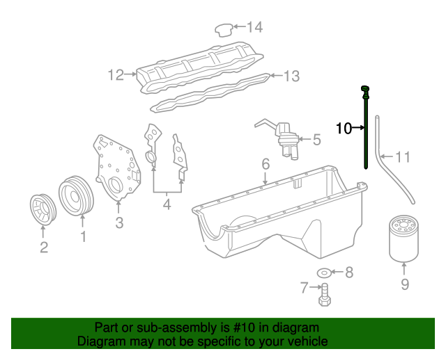 Engines & Engine Parts Automotive Genuine Ford F81Z-6750-DA Oil ...