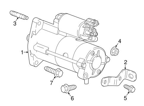 Oem 2018 Chevrolet Malibu Starter Parts