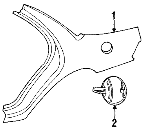 Quarter Panel Components For 1996 Chrysler Concorde