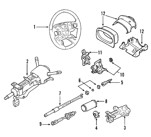 2006 Cadillac Cts Steering Column Parts Diagram Nice Place To Get