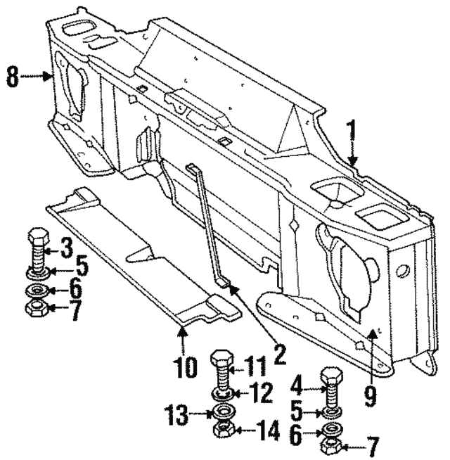 Radiator Support - Land-Rover (ALR6272)