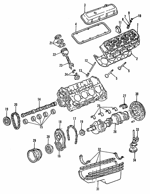 Engine For 1992 Chevrolet C1500 454 Ss