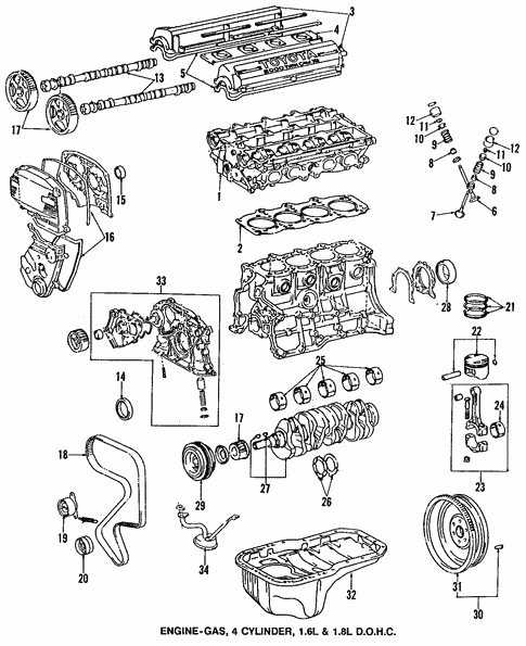 Engine Parts For 1993 Toyota Corolla Larry H Miller Toyota Boulder Parts