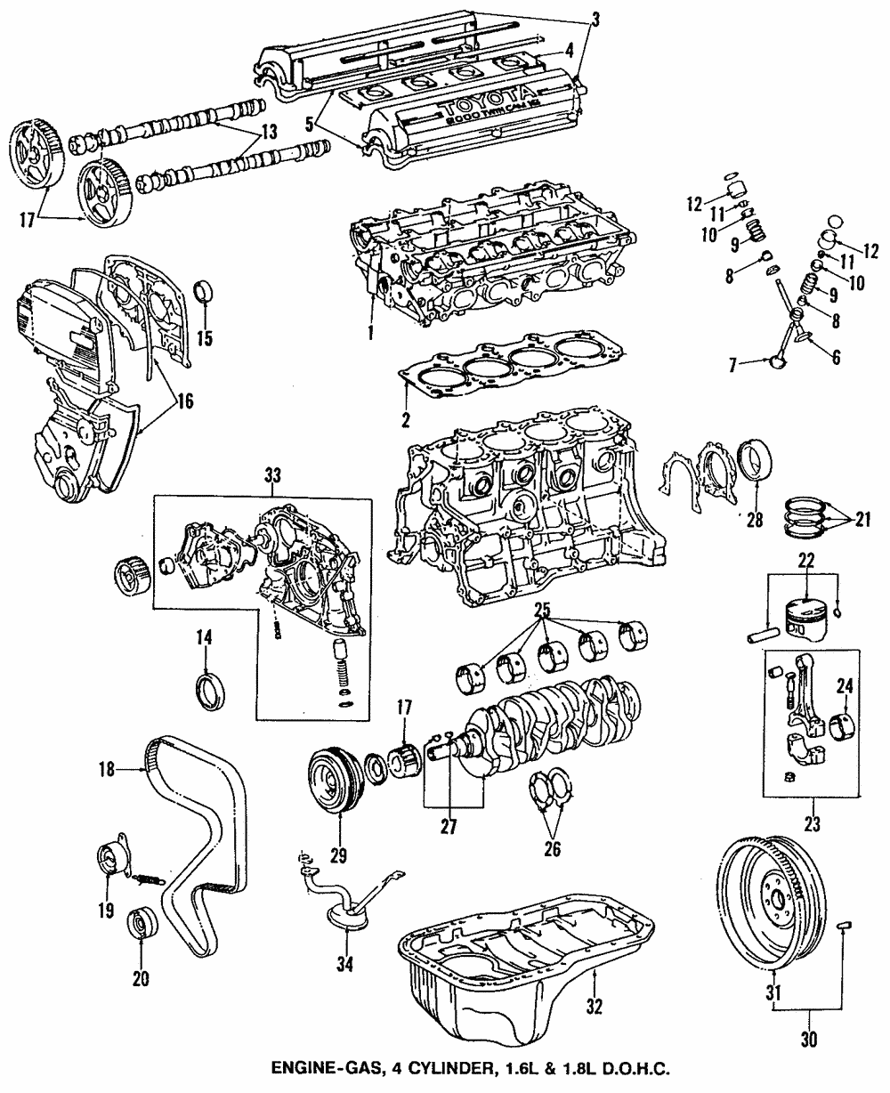 Genuine Toyota Rear Main Seal 90080 31021 Ebay Rav4 Engine Diagram Part Can Be Found As 28 In The Above