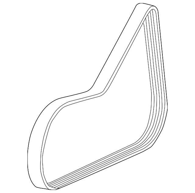 Serpentine Belt For 2008 Chevrolet Cobalt 12634319 Gm