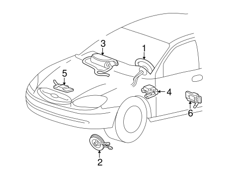 Air Bag Components For 2002 Mercury Sable