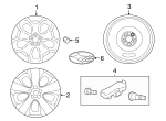 Wheel, Alloy - Subaru (28111FL060)