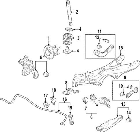 oem 2008 pontiac g6 rear suspension parts gmpartsonline net rh gmpartsonline net Pontiac Front Brake Diagram Pontiac Grand Prix Parts Diagram