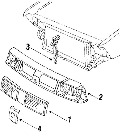oem 1986 oldsmobile delta 88 grille  u0026 components parts