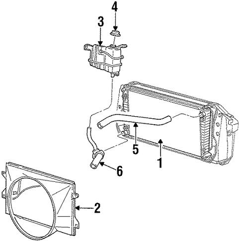 radiator  u0026 components for 2001 lincoln navigator