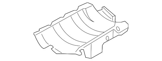 1998 2015 Volkswagen Baffle Plate 06b 103 623 P