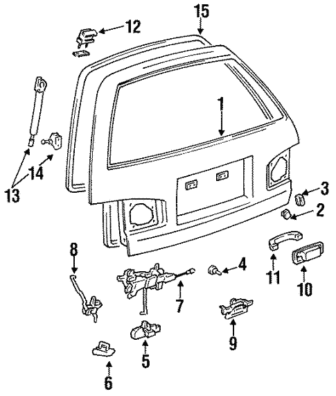 Genuine Oem Gate Hardware Parts For 1992 Toyota Camry Le