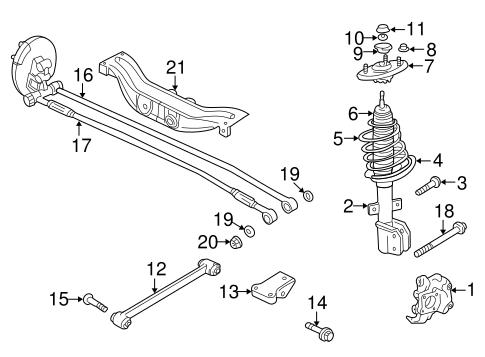 [SCHEMATICS_48EU]  Rear Suspension for 2000 Chevrolet Impala | GMPartOnline | 2000 Chevy Impala Engine Diagram |  | GM Parts Online