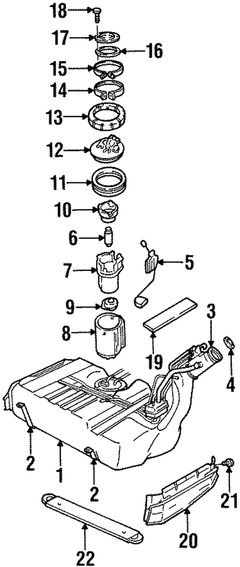 1999 Cadillac Catera Fuel System Diagram