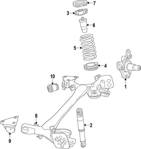 Rear Axle For 2016 Fiat 500L