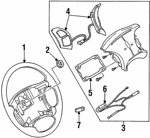Steering Wheel Trim For 1999 Oldsmobile Aurora