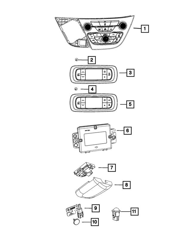 Genuine Chrysler 55111389AF Electrical Humidity Sensor