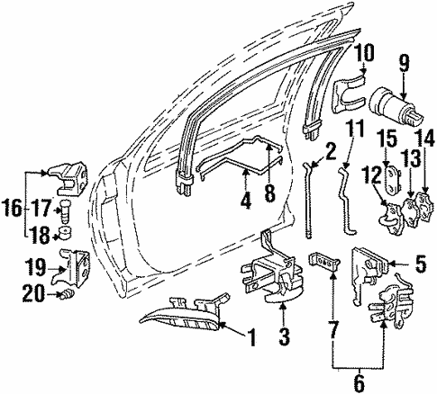 Rear Door For 1995 Chevrolet Monte Carlo Z34