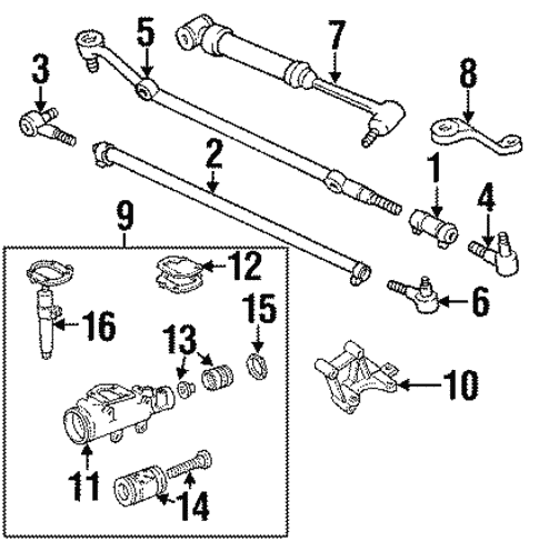 Steering Gear Linkage For 1996 Jeep Cherokee