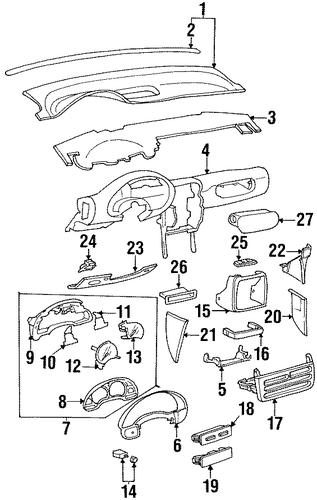 oem 1999 saturn sc1 switches parts