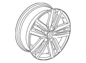 Wheel, Alloy - Volkswagen (5C0-601-025-K-8Z8)