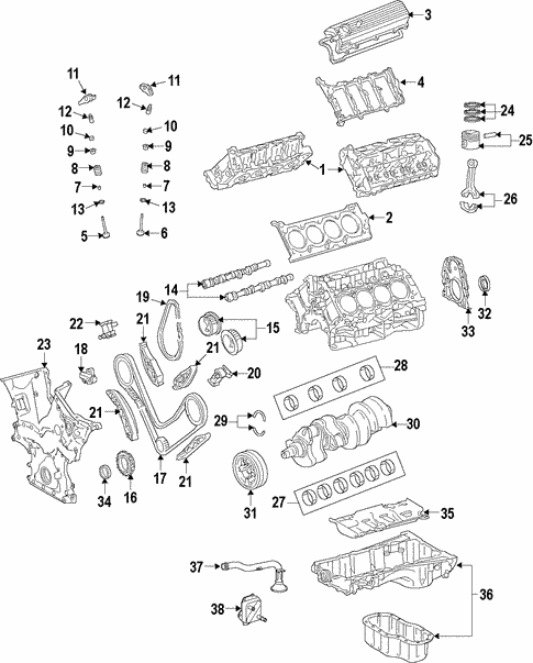 Genuine OEM Oil Cooler Parts for 2008 Toyota Land Cruiser