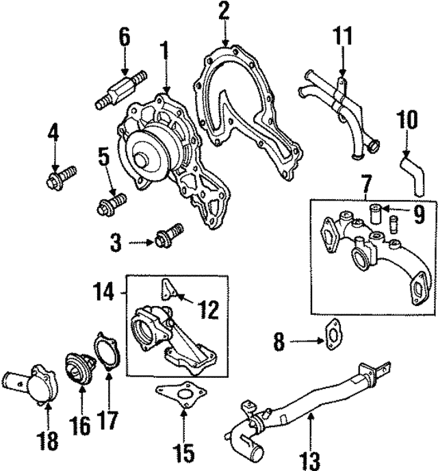Thermostat Housing - Isuzu (8943749673)