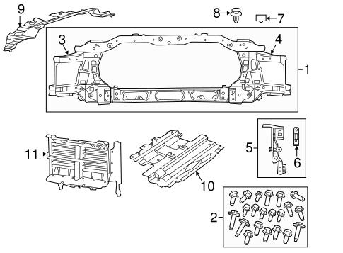 Radiator Support - Mopar (68197334AA)