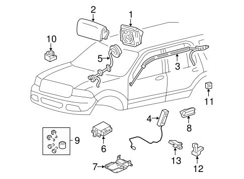 Electrical/Air Bag Components for 2004 Ford Explorer #1